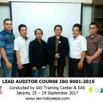 Training Lead Auditor ISO 9001:2015 Jakarta, 25 – 29 September 2017