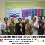Training Lead Auditor Course ISO 14001:2015 Jakarta, 11 – 15 December 2017