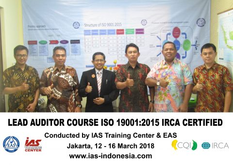 Training Lead Auditor Course iso 9001:2015 Jakarta