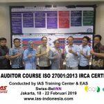 Training Lead Auditor Course ISO 27001 Batch I Sertifikasi IRCA Jakarta, 18 – 22 Februari 2019