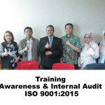 Training Awareness & Internal Audit ISO 9001:2015, Jakarta 3 – 4 Juli 2019