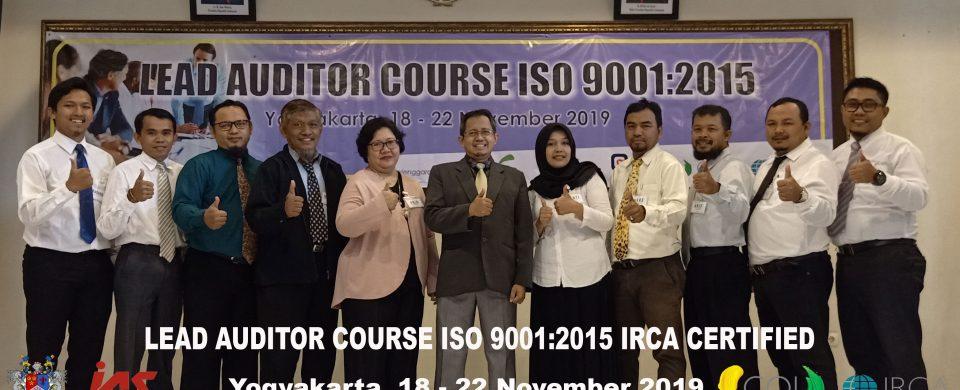Training Lead Auditor Course ISO 9001 Yogyakarta