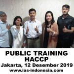 Training HACCP, Jakarta 12 Desember 2019