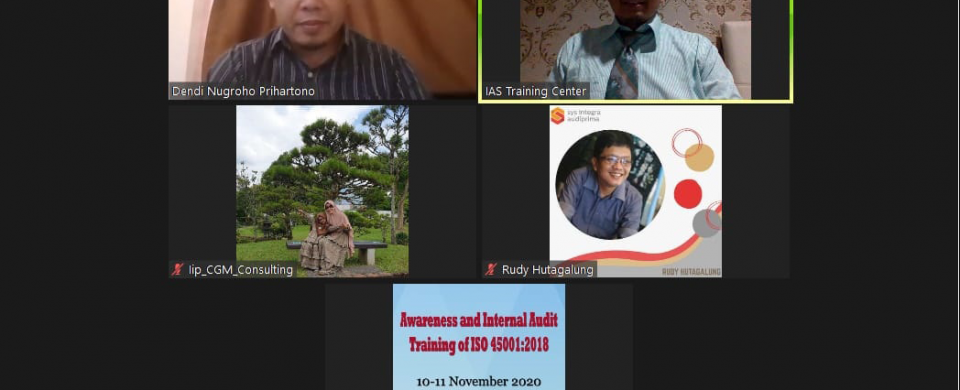 Training Awareness and Internal Audit ISO 45001 2018
