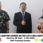 Training Online Lead Auditor Course ISO 9001:2015 Batch XIII Sertifikasi IRCA Jakarta, 28 Sept – 2 Okt 2020