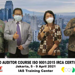 Training Online Lead Auditor Course ISO 9001 Jakarta, 5 – 9 April 2021